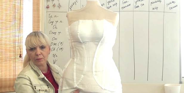 Sewing pattern adjustments for the dress Corset Academy